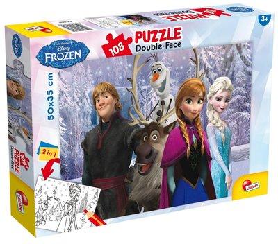 Disney Frozen The Movie dubbelzijdige puzzel met 108 stukjes