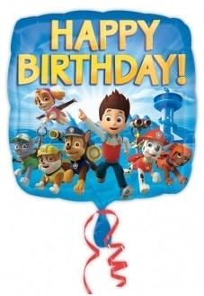 Paw Patrol folie ballon HAPPY BIRTHDAY
