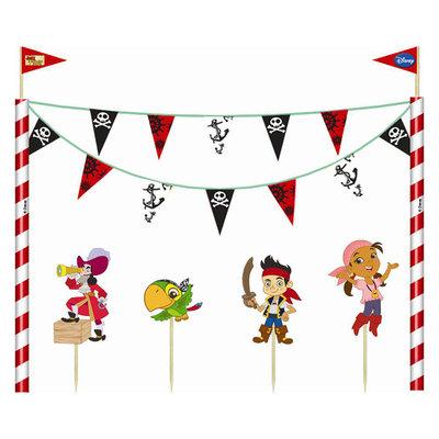 Disney Jake en de Nooitgedachtland piraten taart decoratie set