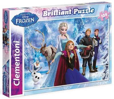 Disney Frozen puzzel Brilliant met 104 stukjes