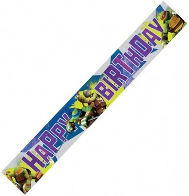 Teenage Mutant Ninja Turtles verjaardagsbanner