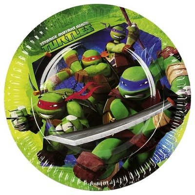 Teenage Mutant Ninja Turtles party bordjes rond