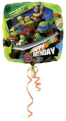 Teenage Mutant Ninja Turtles foil ballon Happy Birthday