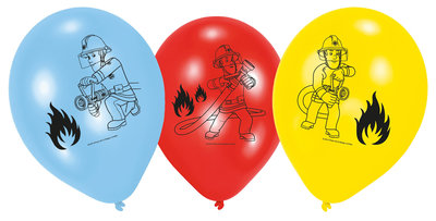 Brandweerman Sam ballonnen 23cm groot