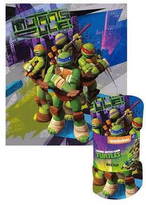 Teenage Mutant Ninja Turtles fleece deken Rule
