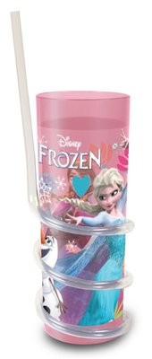Disney Frozen drinkbeker met spiraal rietje Magic