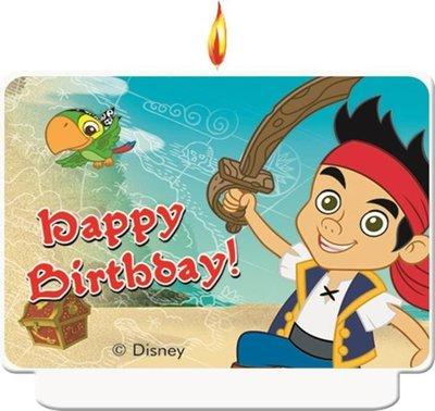 Disney Jake en de Nooitgedachtland piraten verjaardag taart kaars