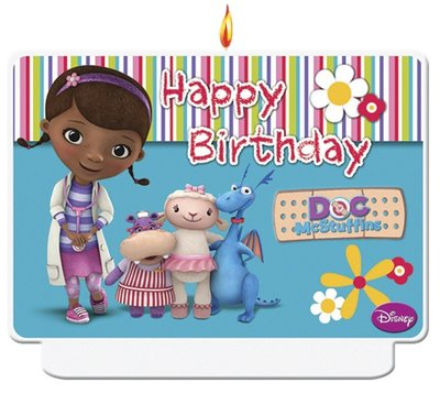 De Speelgoed Dokter verjaardag taart kaars