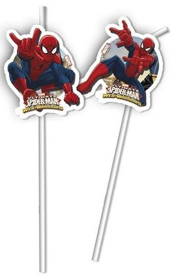 Spiderman party rietjes Web Warriors