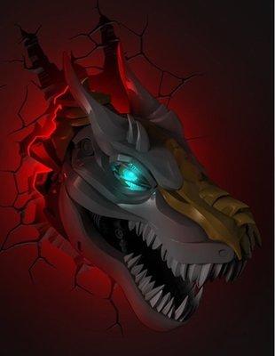 Transformers Grimlock 3D wandlamp