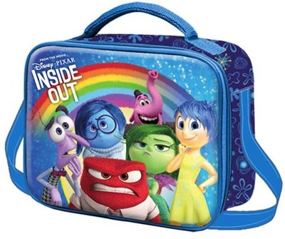 Inside Out schoudertas - lunchbag Colourful Rainbow