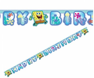 Spongebob HAPPY BIRTHDAY slinger
