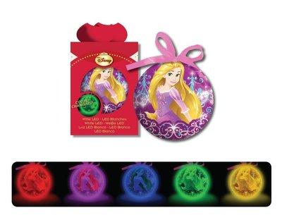 Rapunzel kerstbal met GLOW licht
