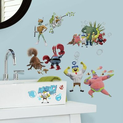 Spongebob 27 delig wand decoratie set