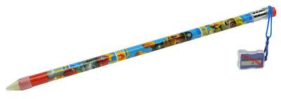 Paw Patrol Jumbo potlood met gum en puntenslijper