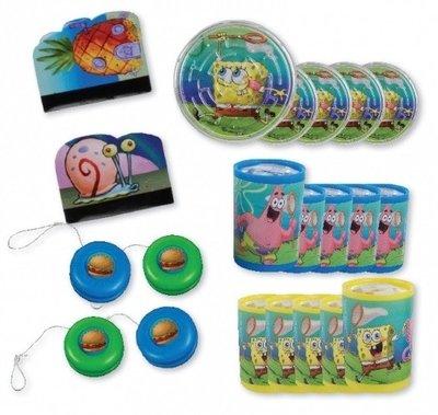Spongebob uitdeel cadeautjes partypack