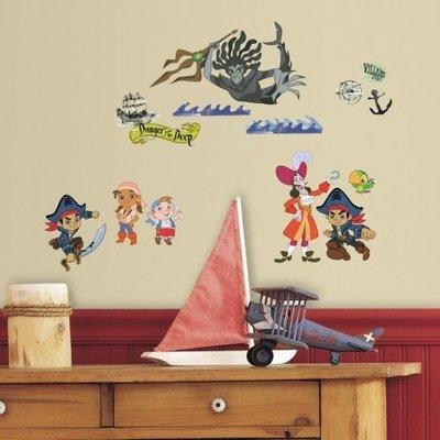 Disney Jake en de nooitgedachtland piraten 27-delig wanddecoratie set
