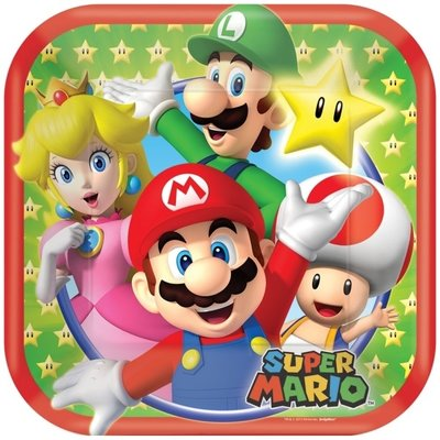 Super Mario gebaksbordjes