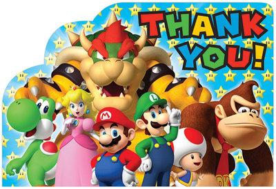Super Mario bedankkaartjes met envelop