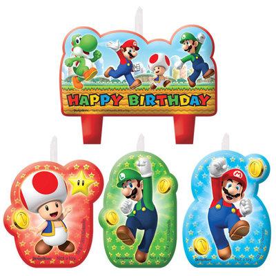 Super Mario verjaardagstaart kaarsen