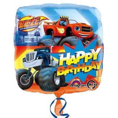 Blaze en de Monsterwielen folie ballon Happy Birthday