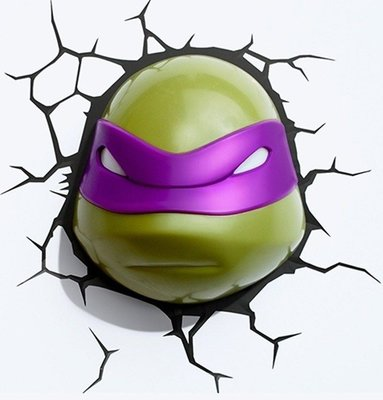 Teenage Mutant Ninja Turtles Donatello 3D wandlamp