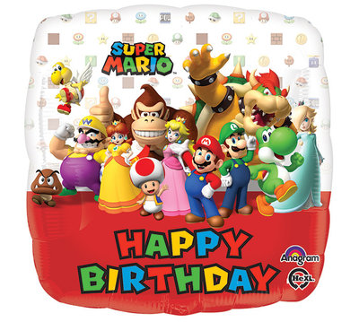 Super Mario folie ballon Happy Birthday