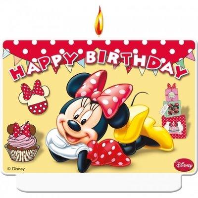 Minnie Mouse verjaardag taart kaars