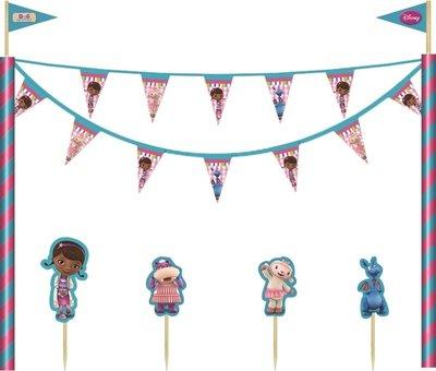 De Speelgoed Dokter taart decoratie set