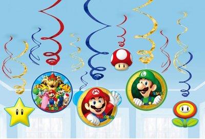 Super Mario plafond decoratie slingers