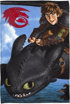 Dragons fleece deken