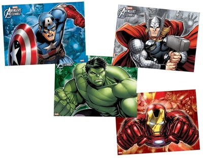The Avengers party placemats