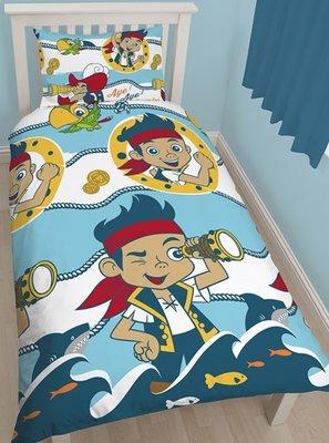 Disney Jake en de nooitgedachtland piraten dekbedovertrek