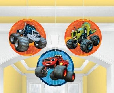 Blaze en de Monsterwielen 3 delig plafond decoratie