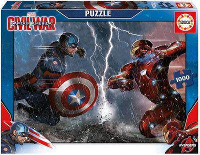 The Avengers Civil War puzzel met 1000 stukjes