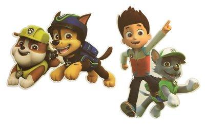 Paw Patrol hangdecoratie figuren Chase Rubble en Ryder en Rocky