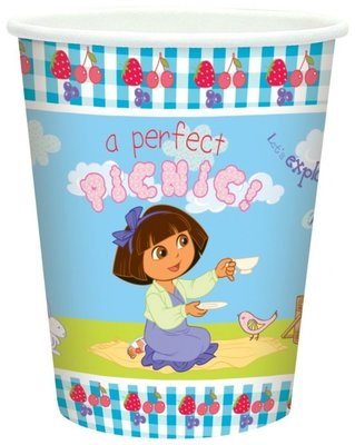 Dora Explorer party bekers Spring collectie