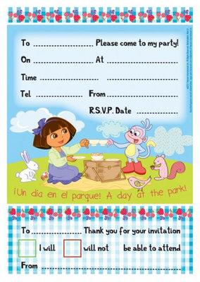 Dora Explorer uitnodigingen Spring collectie