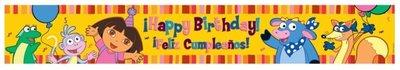 Dora Explorer verjaardagsbanner