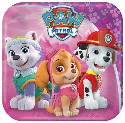 Paw Patrol gebaksbordjes met Skye en Everest