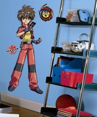 Bakugan XL wanddecoratie muursticker Dan kuso