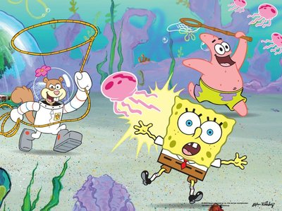 Spongebob canvas schilderij 40x30cm D