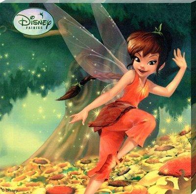 Disney Tinkerbell canvas schilderij 25x25cm A