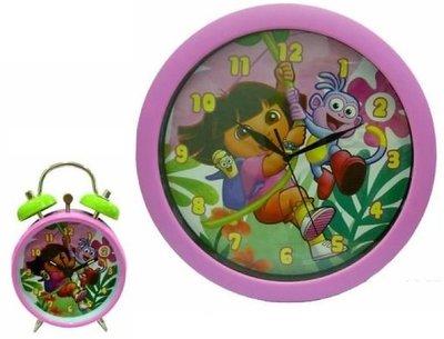 Dora Explorer wandklok met wekker giftset