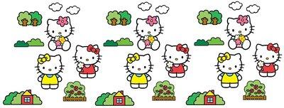 Hello Kitty 24-delig foam decoratie set