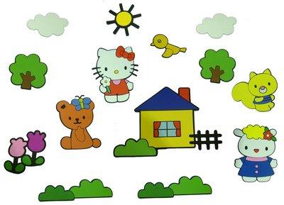 Hello Kitty 14-delig foam wanddecoratie set