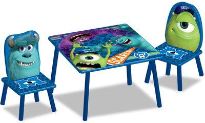 Monsters University tafel met 2 stoelen