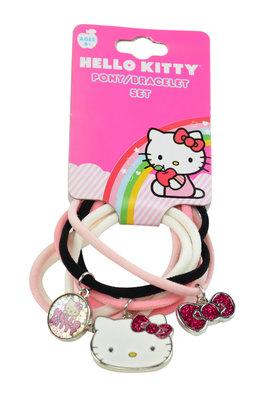 Hello Kitty haarelastiekjes armband set