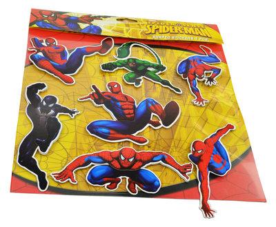 Spiderman 7 delig 3D muur decoratie set