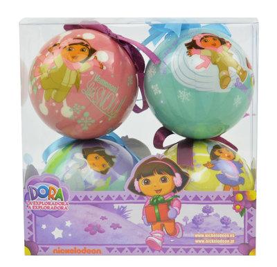 Dora Explorer kerstballen set van 4 stuks